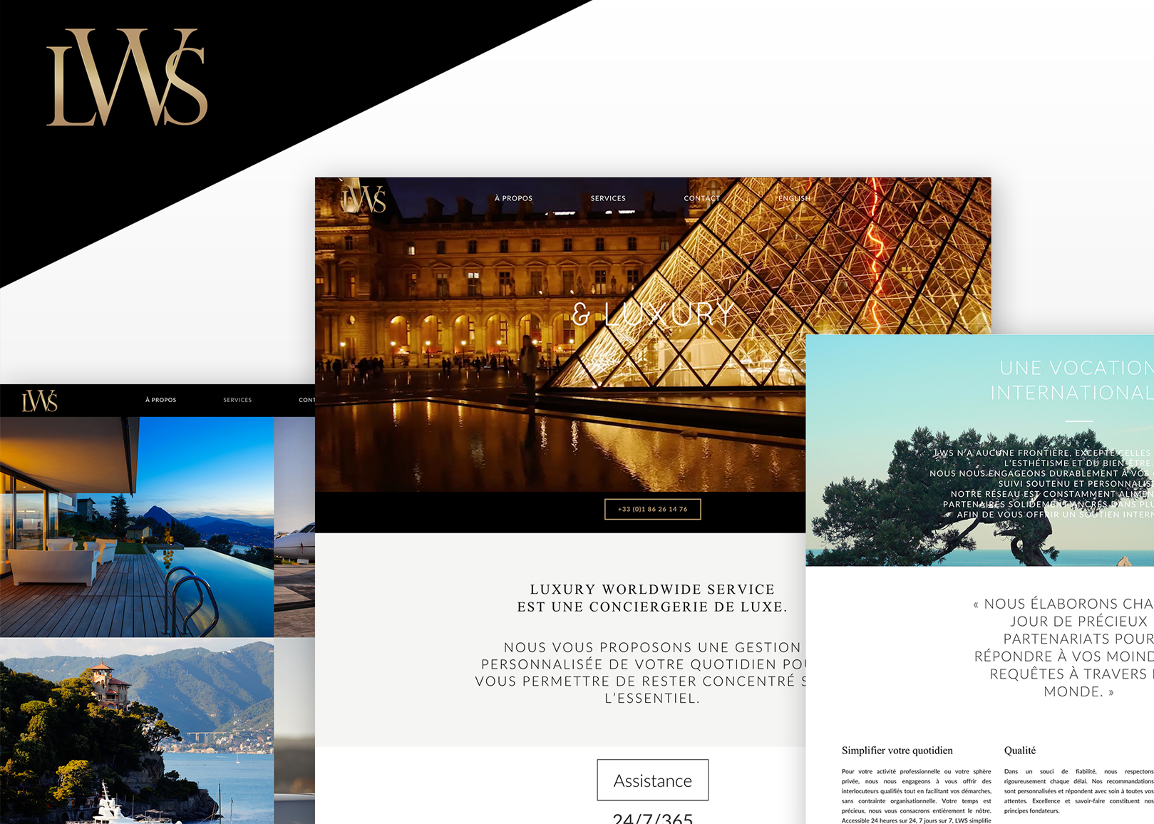 Luxury Worldwide Service - Site web